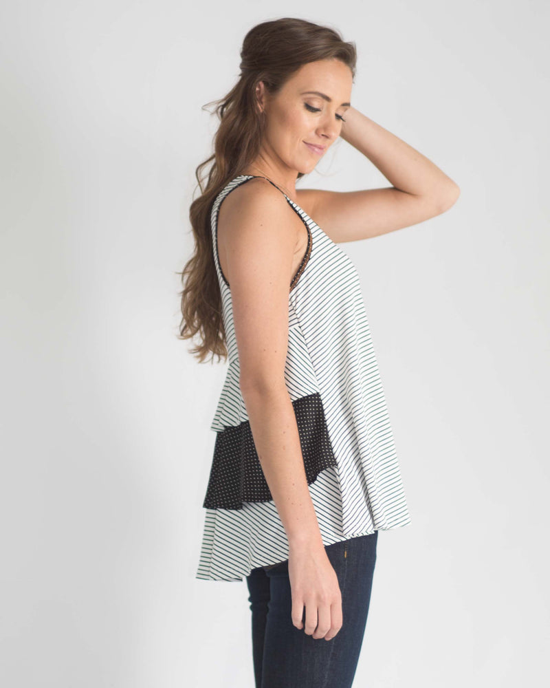 Tiered Ruffle Back Top
