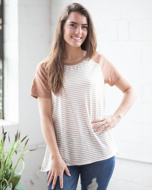 Amber Striped Tee | Rose & Remington