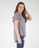 Elsa Striped Linen Blend Top