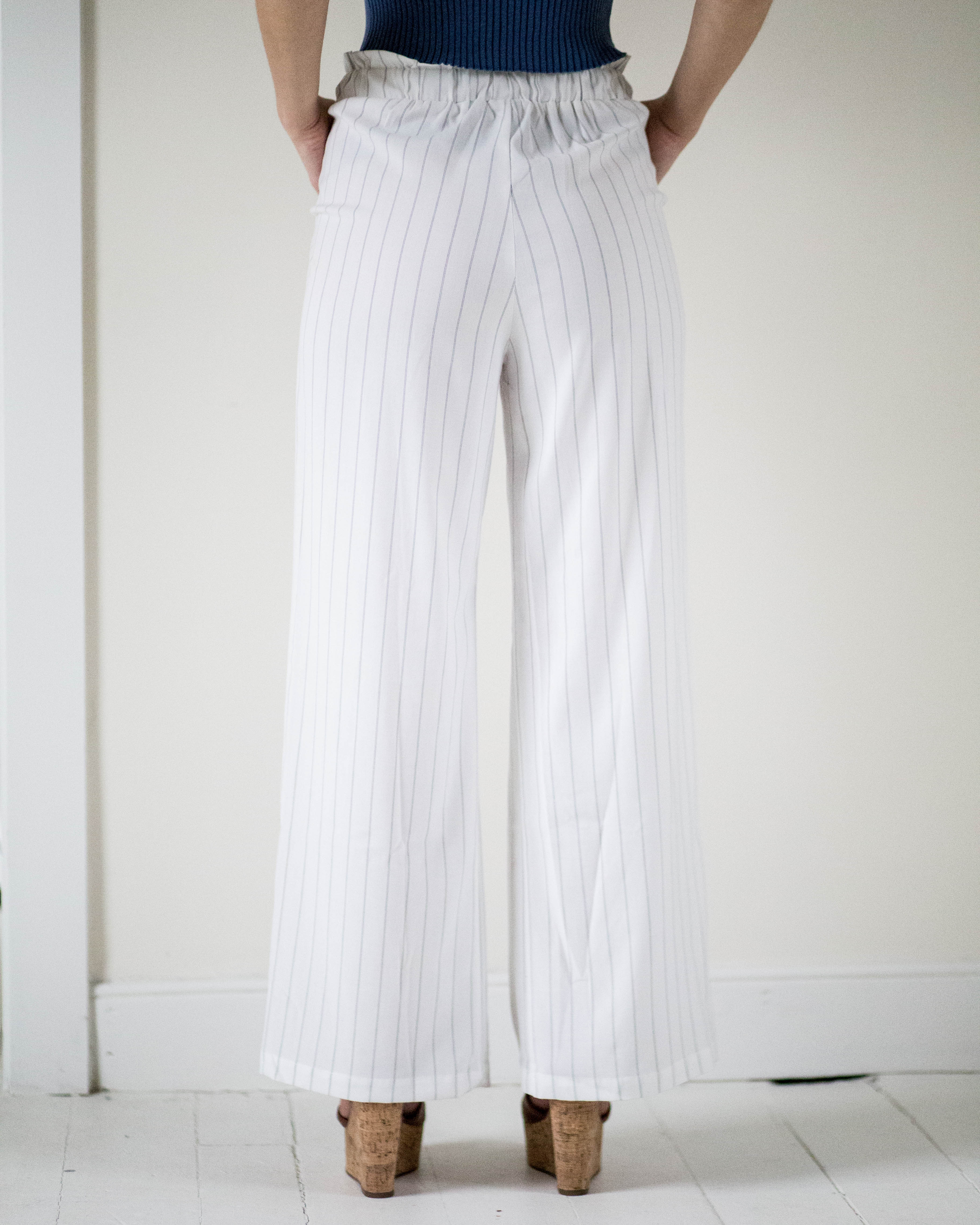 High Waisted Pinstripe Pants | Rose & Remington