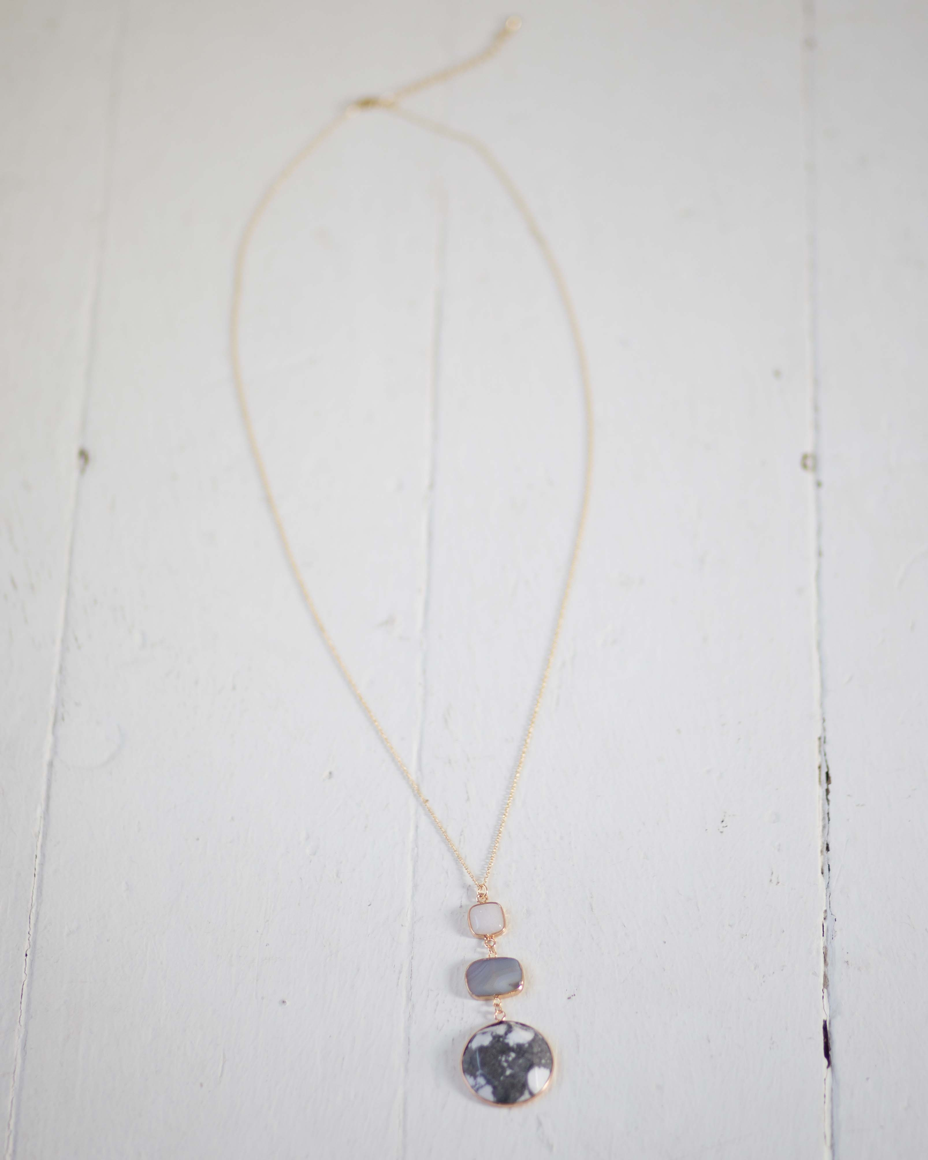 Charming Stone Necklace | Rose & Remington