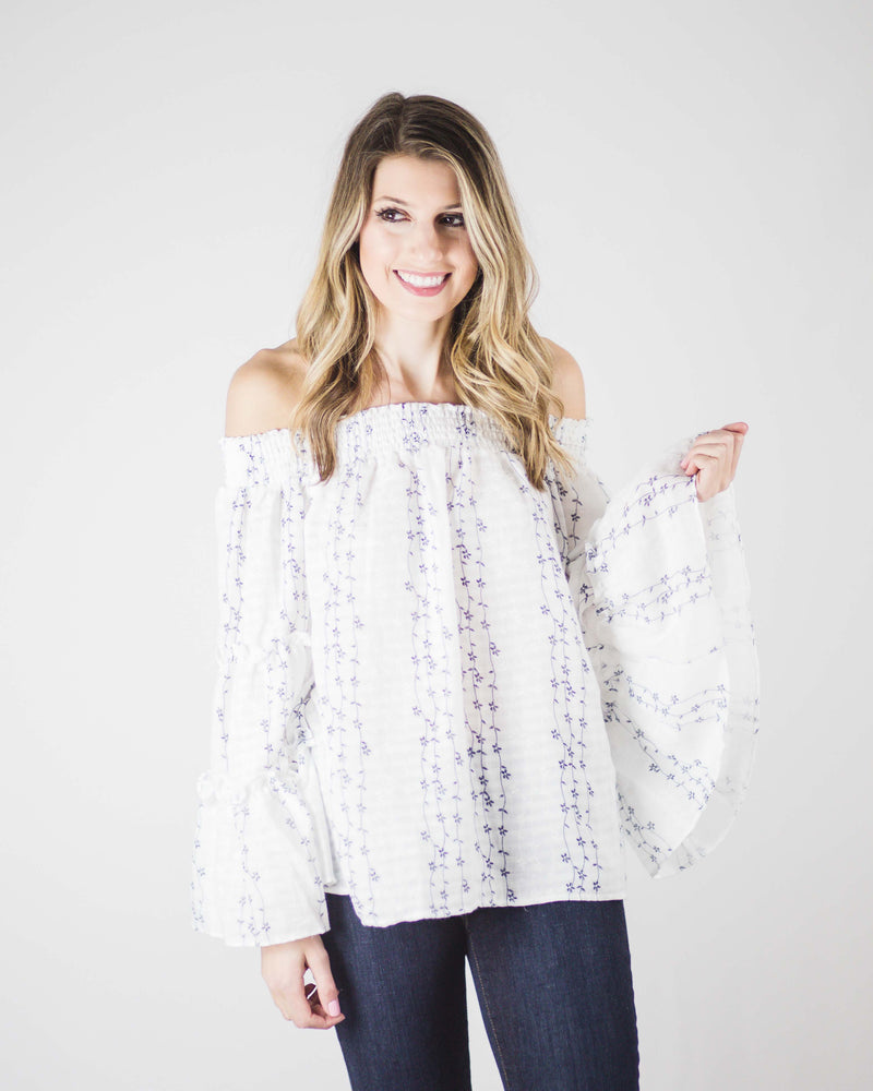 Anna Smock Bell Sleeve Top