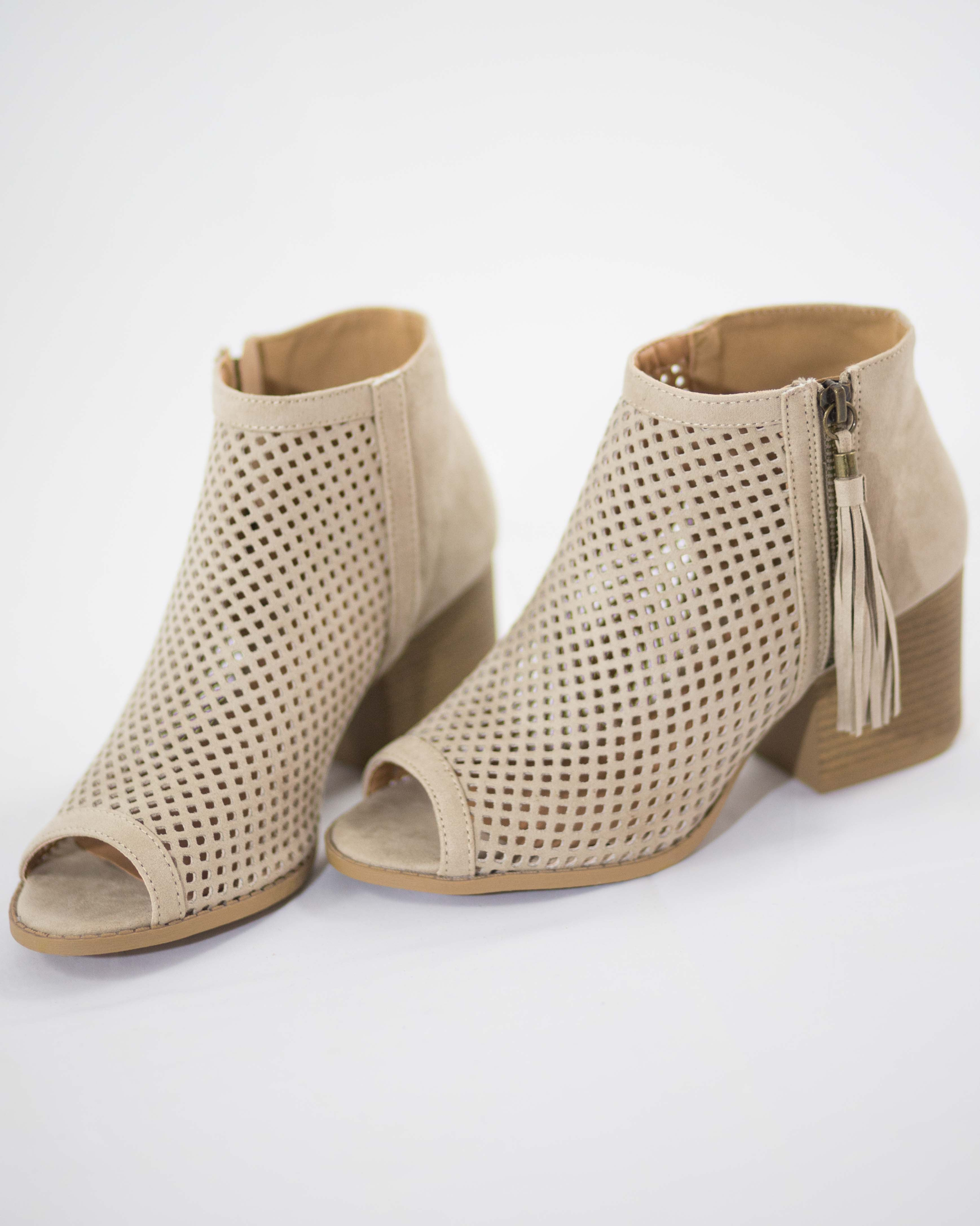 Tara Open Toe Mesh Shoes