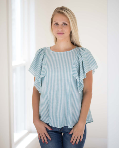 Becca Butterfly Sleeve Top | Rose & Remington