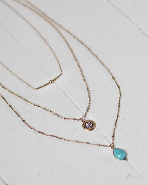 Turquoise Layered Necklace | Rose & Remington
