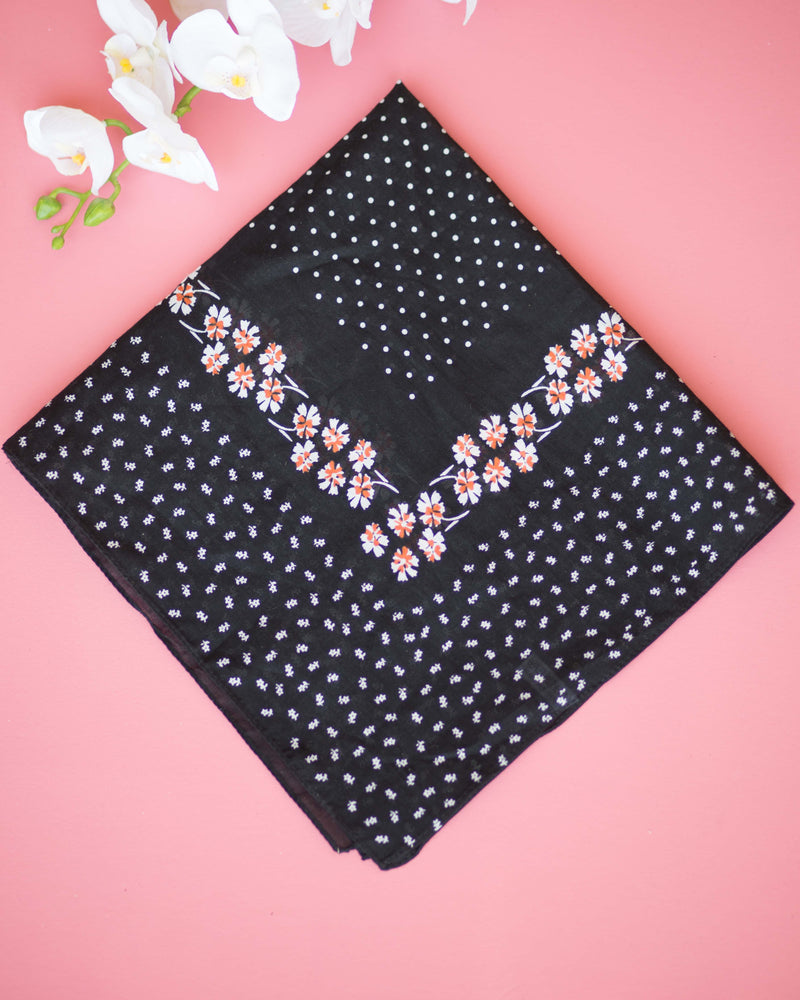 Floral Dotted Handkerchief