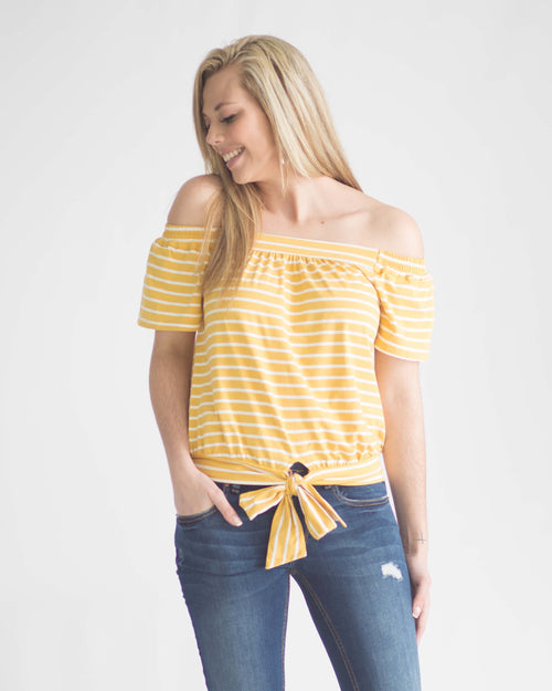 Zoey Off-The-Shoulder Top