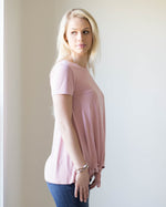 Everyday Side Tie Tee | Rose & Remington