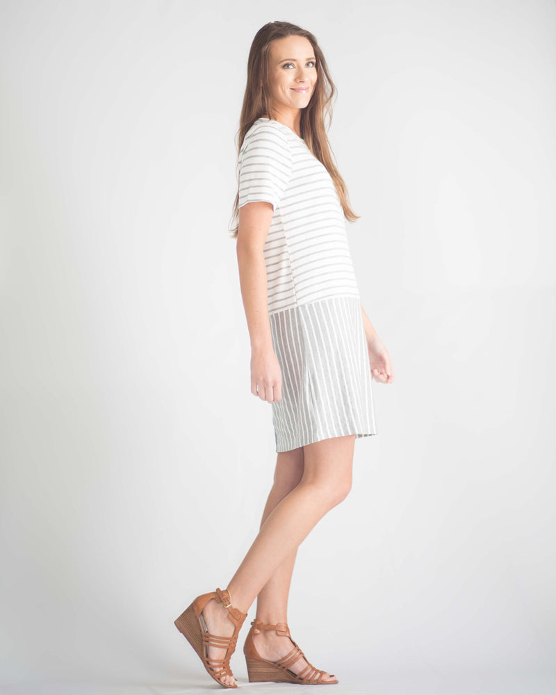 Clementine Striped Button Back Dress