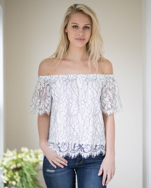 Lovely Lace Top | Rose & Remington