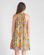 Marigold Mock Neck Dress