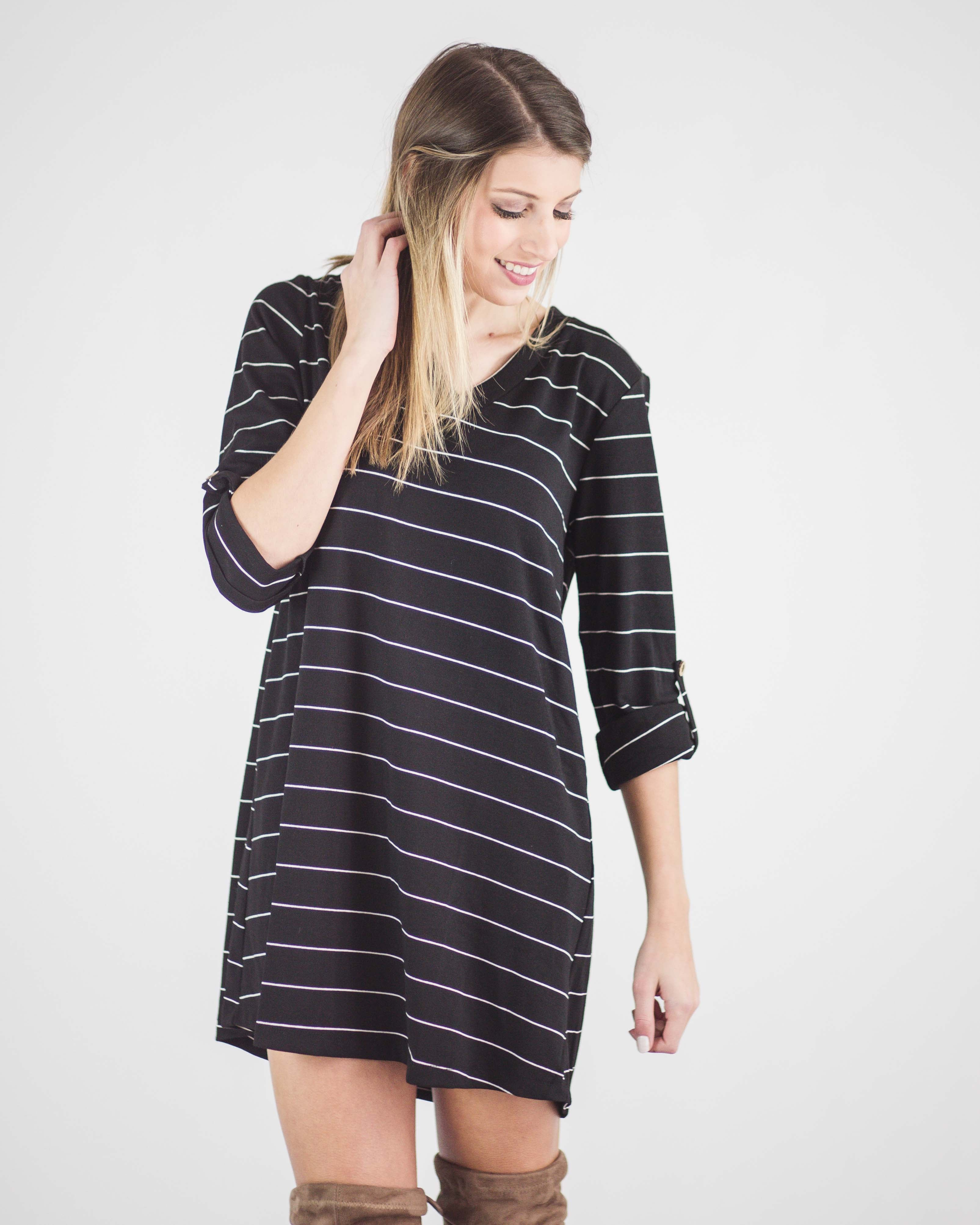 Hayden Striped Tunic Dress