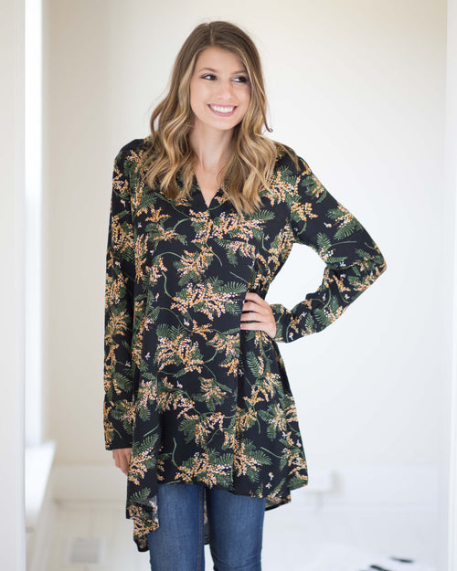 Sabrina Floral Shift Tunic | Rose & Remington