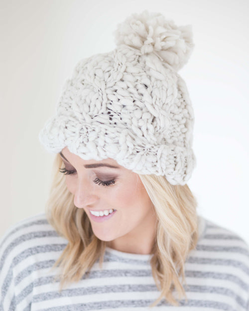 Frosted Soft Knit Hat