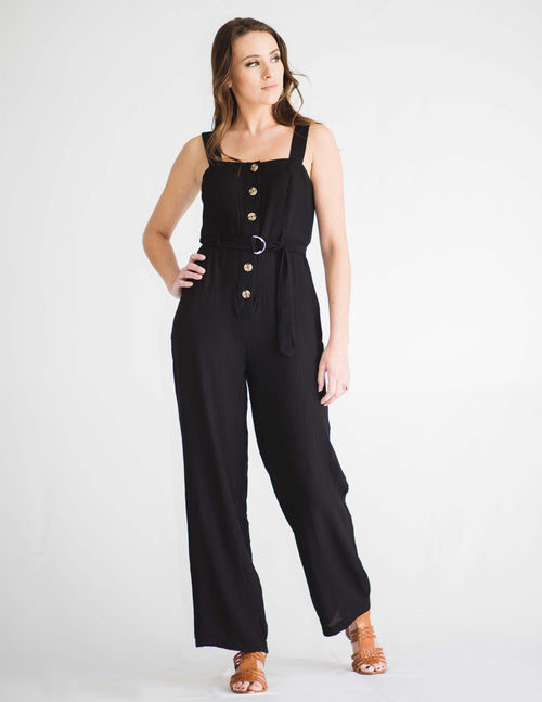 540b6391fd6 Stella Button Front Jumpsuit