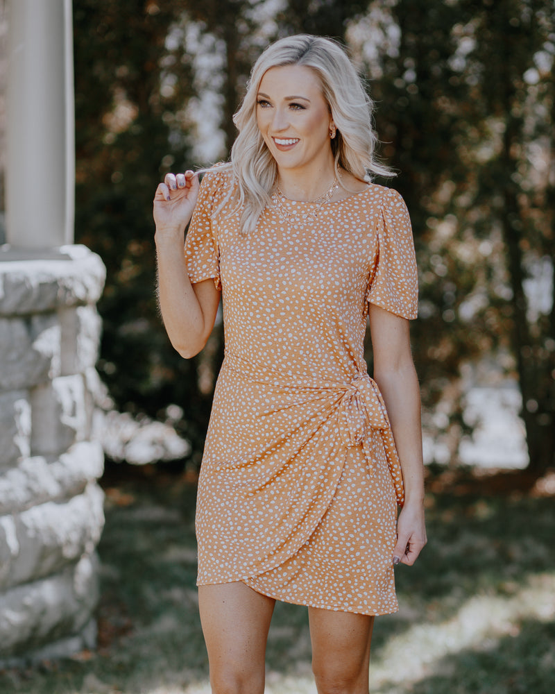 Bailey Dotted Wrap Dress