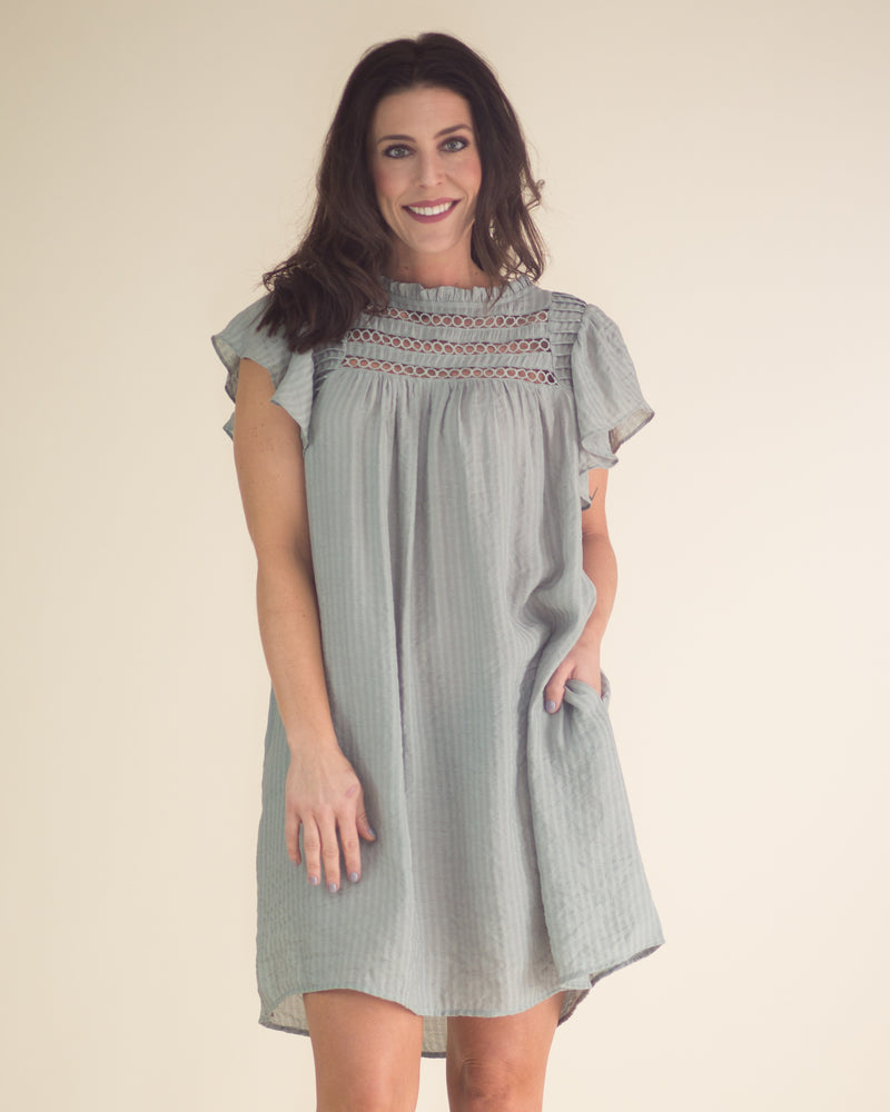 Liliana Ruffled Keyhole Dress