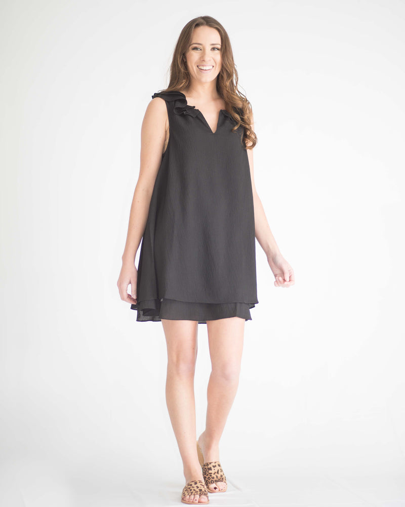 Sisley Sleeveless Ruffled Dress