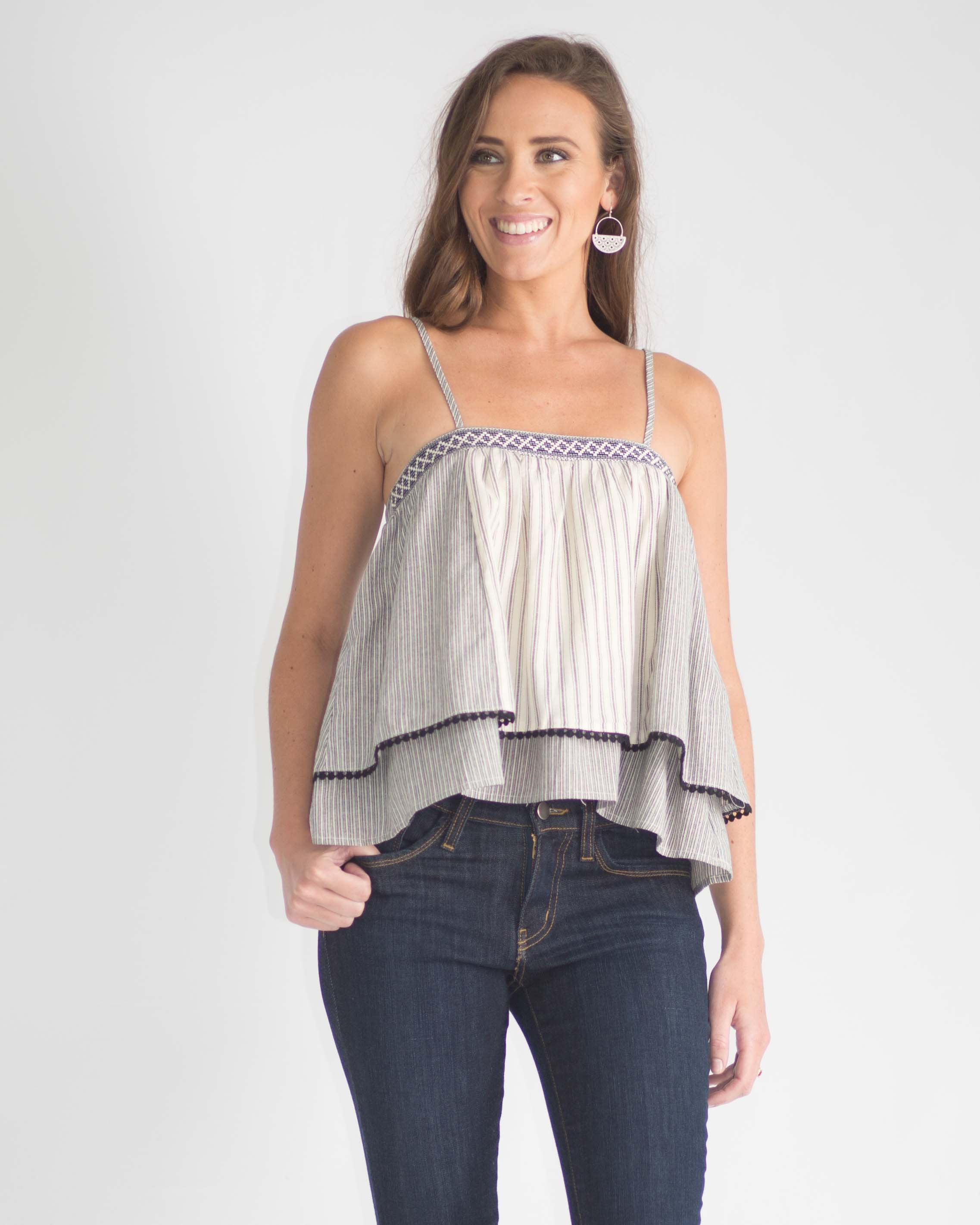 Lucy Layered Cropped Top