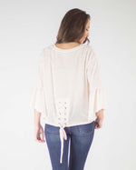 Lace Back Bell Sleeve Top