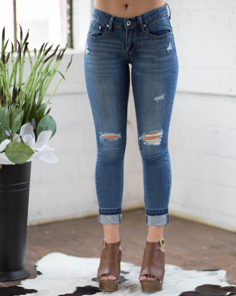 Cuffed Skinny Ankle Jean | Rose & Remington