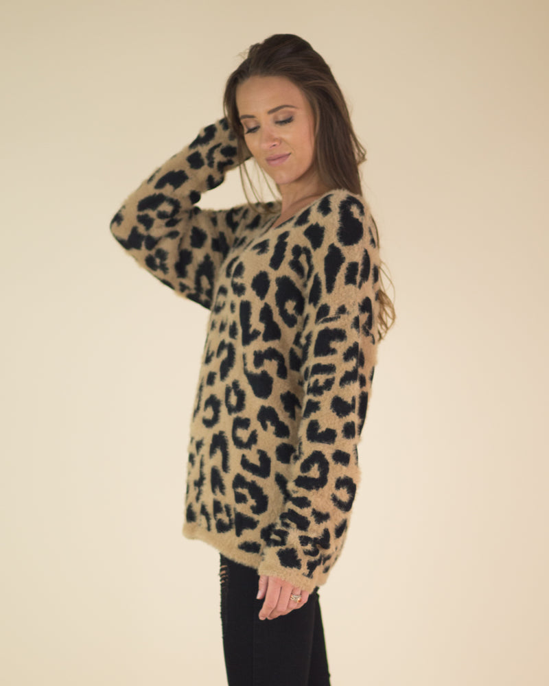 Cozy Cheetah Print Sweater