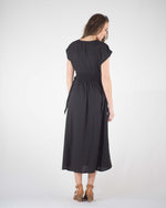 Sandra Side Tie Midi Dress