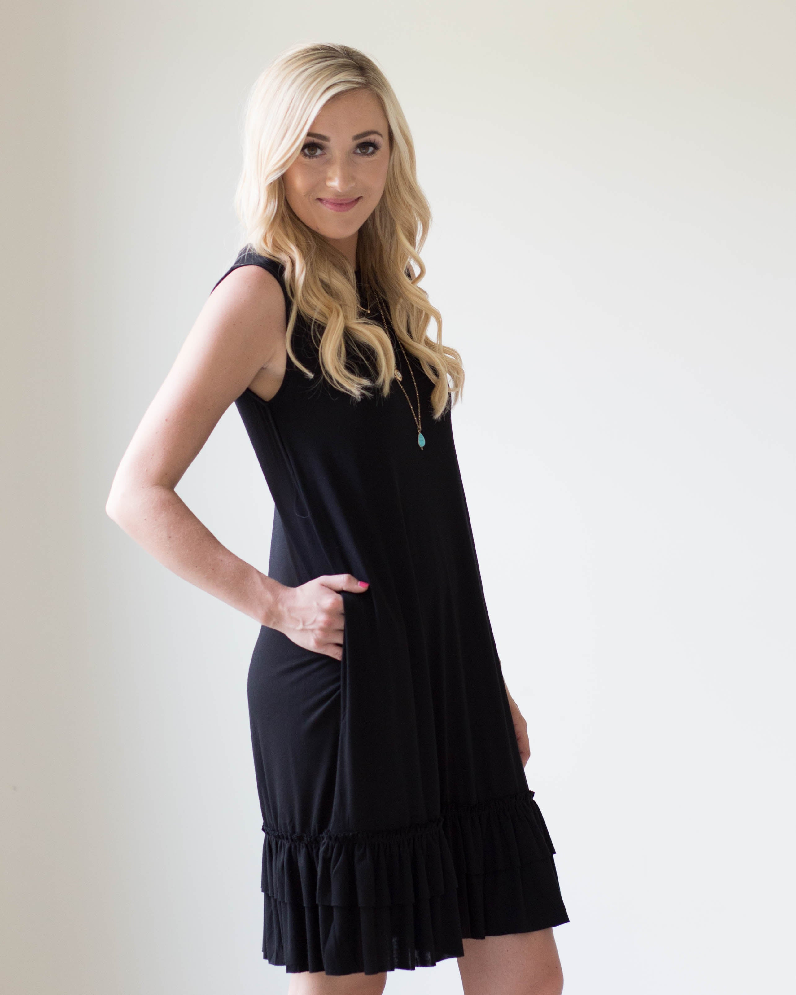 Regan Ruffle Hem Dress | Rose & Remington