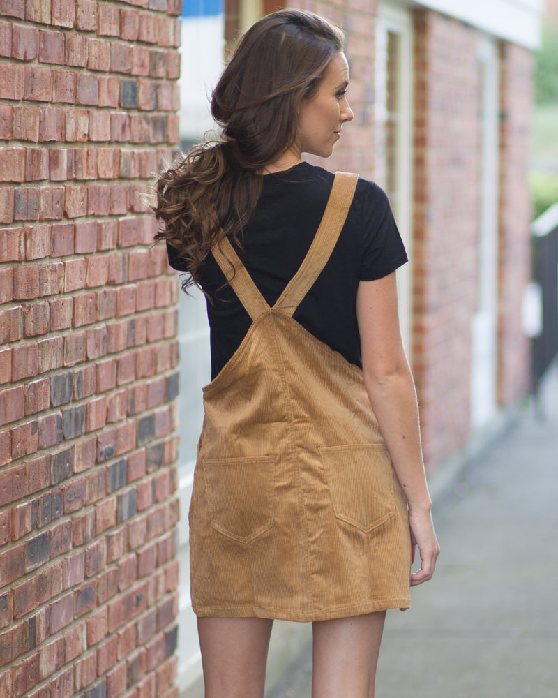 Noelle Cord Overall Dress