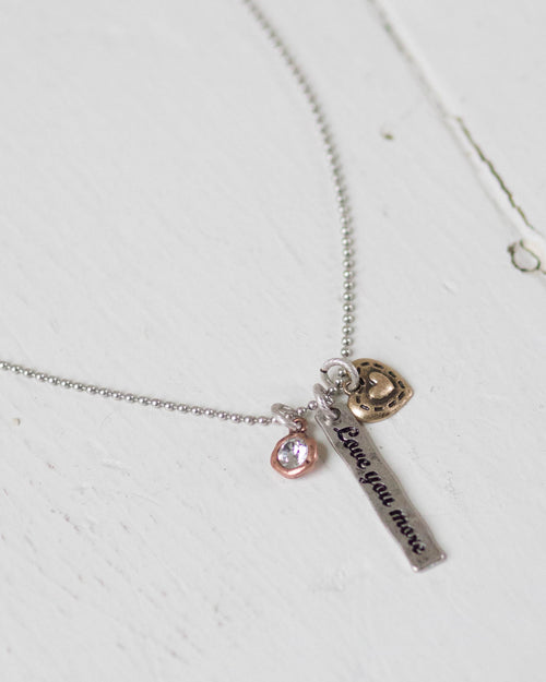 """Love You More"" Charming Necklace 