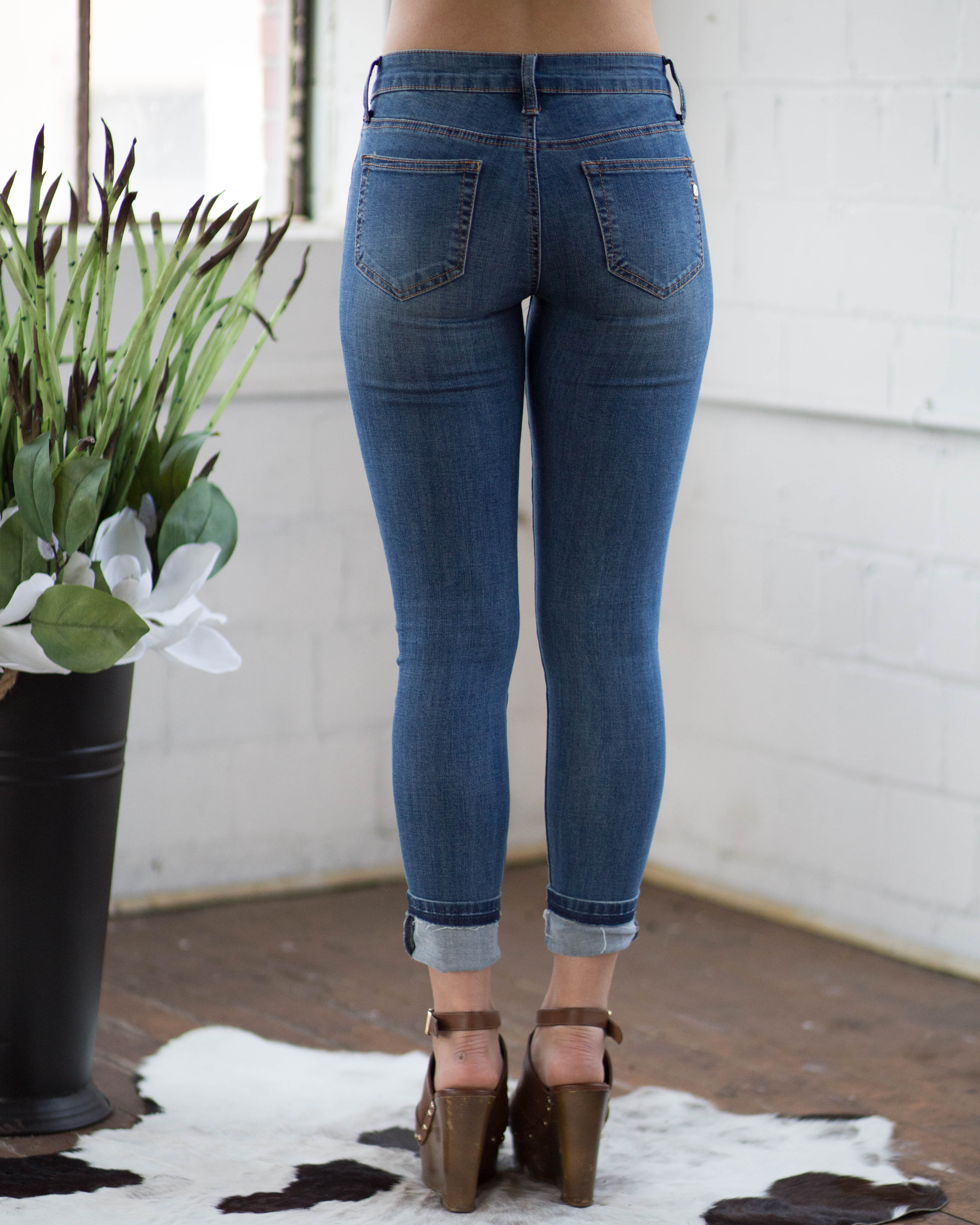 Skinny Cuffed Ankle Jean | Rose & Remington