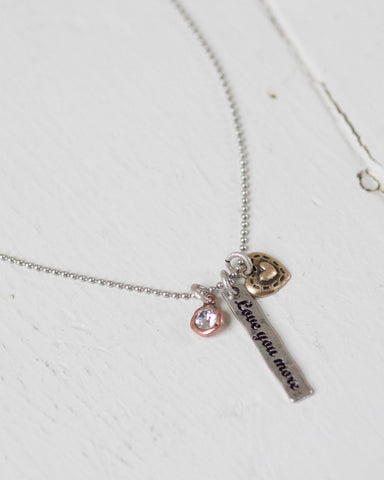 """Love You More"" Charming Necklace"