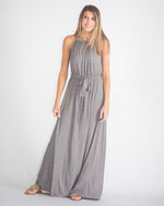 Simple Waist Tie Maxi Dress