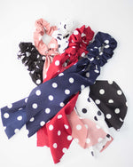 Polka Dot Scrunchie Hair Ribbon