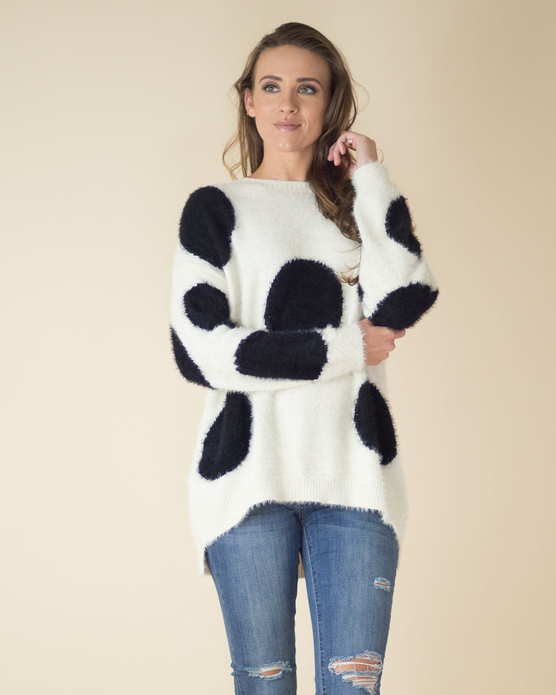 On The Loose Dotted Sweater