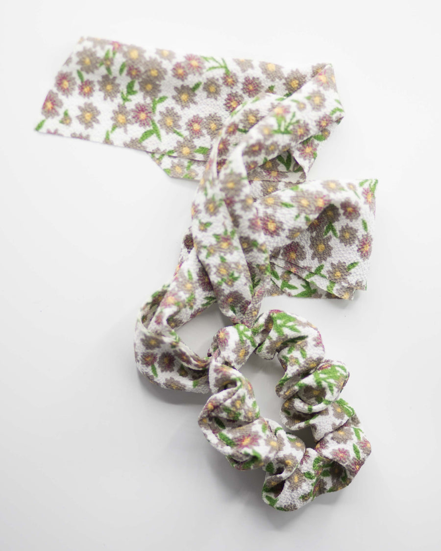 Floral Scrunchie Hair Ribbon