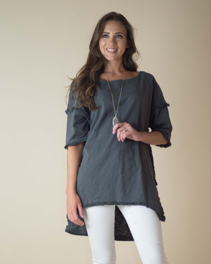 Charlotte Fringed Tunic Top