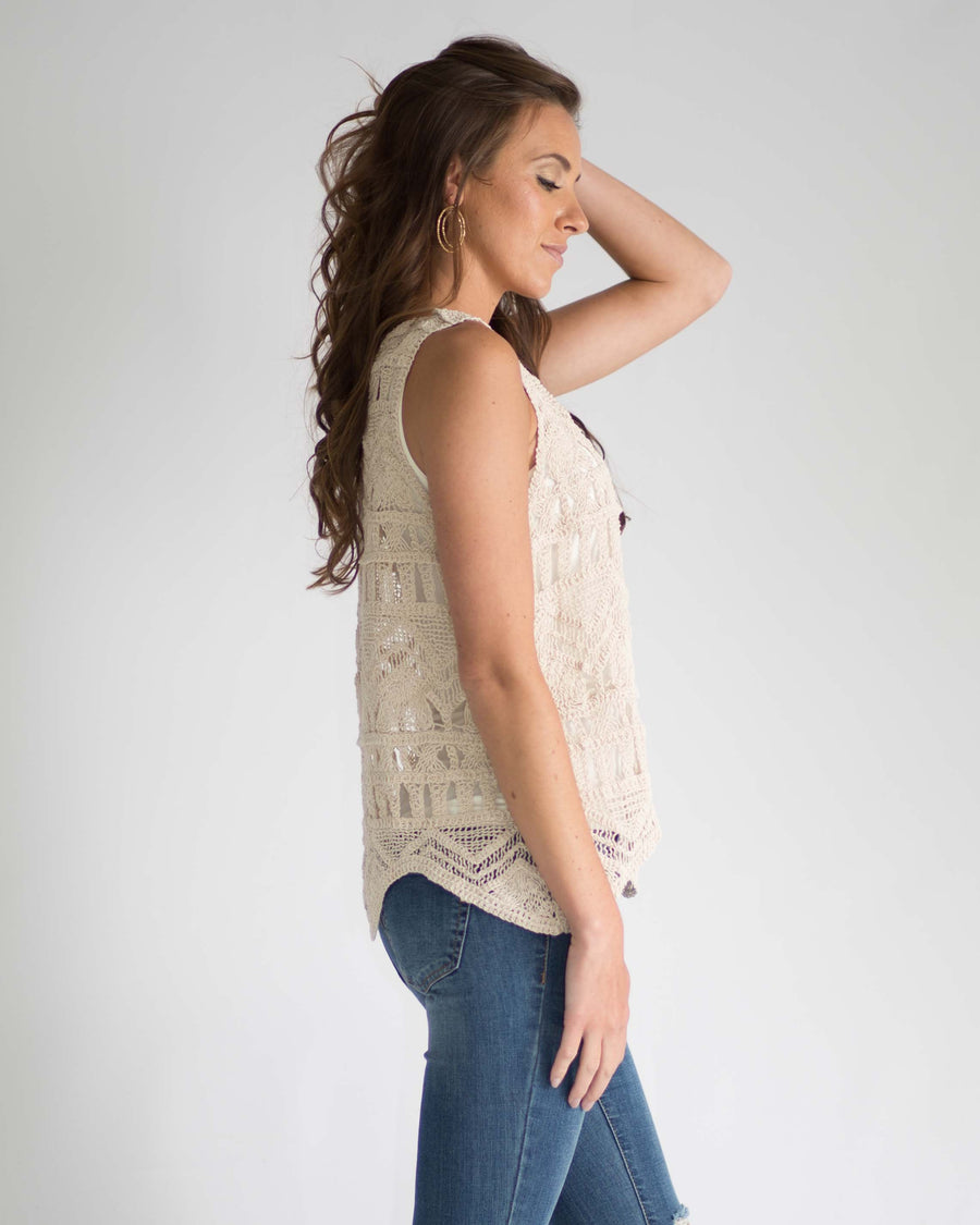 Phoenix Crochet Sleeveless Top