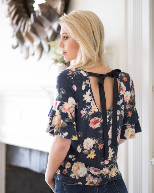 Brooke Tie Back Top | Rose & Remington