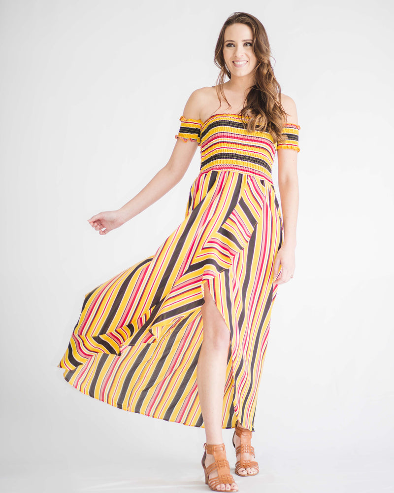 Sunset Smock Top Maxi Dress
