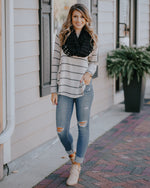 Latte Striped Top
