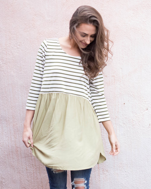 Striped Babydoll Tunic | Rose & Remington