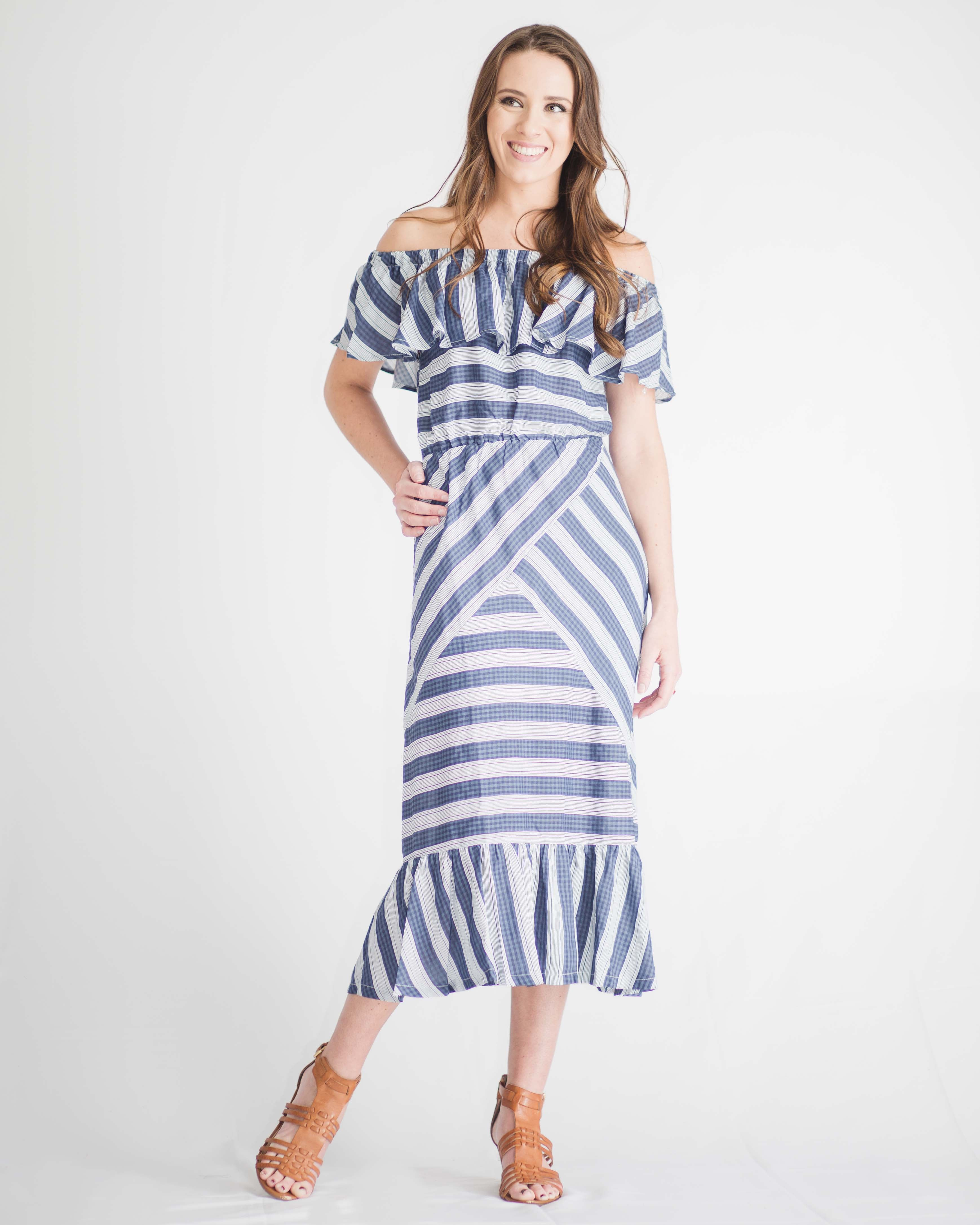 Brooklyn Striped Midi Dress