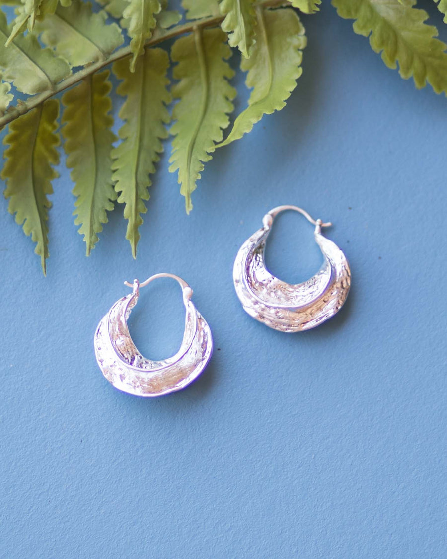 Dainty Silver Hoop Earrings