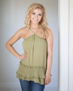 Victoria Ruffle Trim Top | Rose & Remington