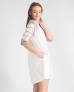Multi-Stripe Knit Pocketed Dress