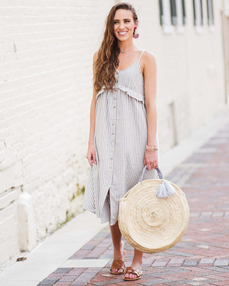 Emily Buttoned Midi Dress