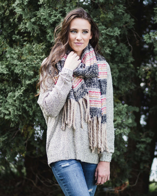 Sidney Striped Fleece Scarf