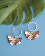 Metallic Fan Earrings
