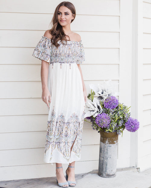 Midi Paisley Dress | Rose & Remington